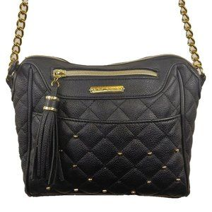 Betsey Johnson quilted crossbody leather purse